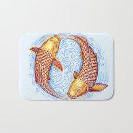 Pisces Fish Yin Yang Mandala Bath Mat