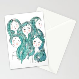 Cute faces Stationery Cards