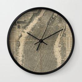 New York 1879 Wall Clock