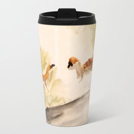 Stoat in the sunset (watercolor) Travel Mug