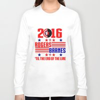 bucky barnes Long Sleeve T-shirts featuring 2016 BARNES RODGERS by BethTheKilljoy