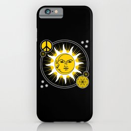 Sun & Moon / Peace Sign Sacred Geometry iPhone Case