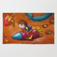 rocket Area & Throw Rugs featuring Rocket by András Balogh