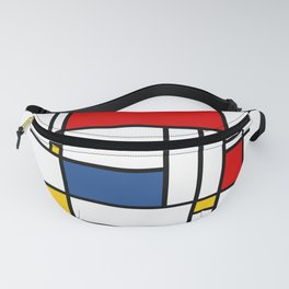 Mondrian color pattern Geometric Red Yellow Blue Fanny Pack