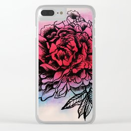 Waterflower I Clear iPhone Case