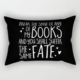 Don't Break My Spine! (Inverted) Rectangular Pillow