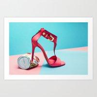 shoe Art Prints featuring shoe by Fah + Mindo