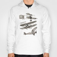 airplanes Hoodies featuring airplanes 3 by Кaterina Кalinich