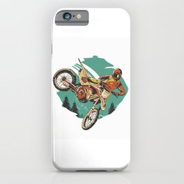 Freestyle Motorcycle Stunts FMX iPhone Case
