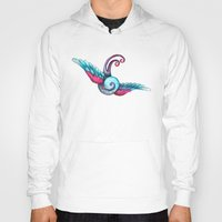 swallow Hoodies featuring Swallow  by Rebecca Jobling