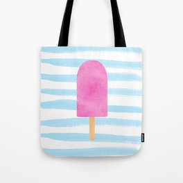 Watercolour popsicle in blue and pink Tote Bag