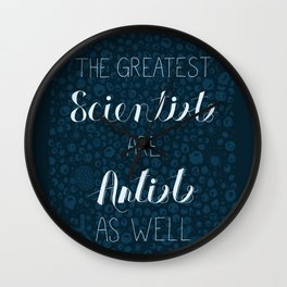 Art and Science Wall Clock