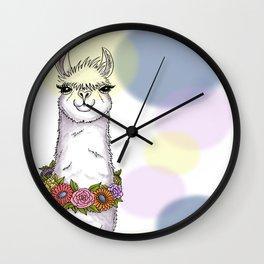 Loveable Llama Wall Clock