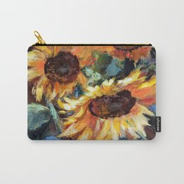 Sunflowers in a vase. Fragment. Carry-All Pouch