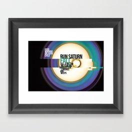 Run Saturn Fall Framed Art Print