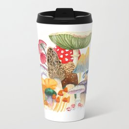 Woodland Mushroom Society Metal Travel Mug