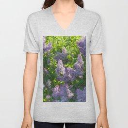 Summer lilac nature pattern Unisex V-Neck