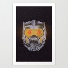 Star Lord Helmet Art Print