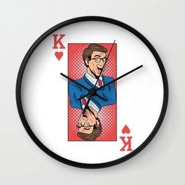 King Pop Art Wall Clock