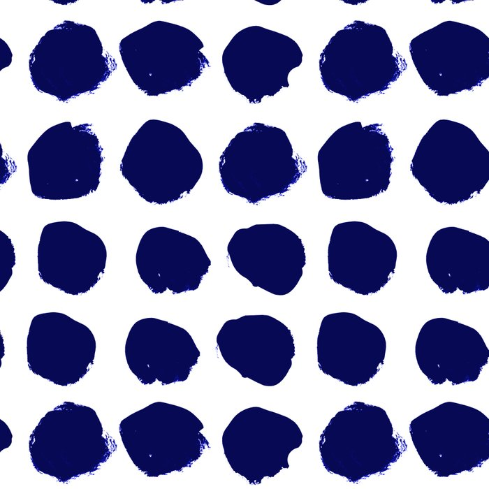 Aria - indigo brushstroke dot polka dot minimal abstract painting pattern painterly blue and white  Leggings