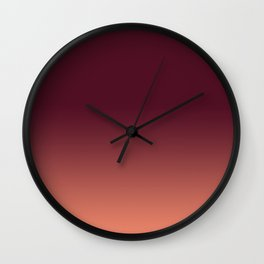 Maroon to Blush Wall Clock