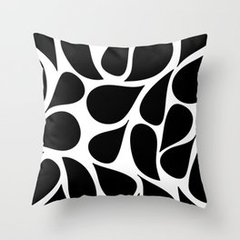 Abstract Black & White Foliage Pattern - Mix and Match with Simplicity of Life Throw Pillow