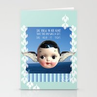 glee Stationery Cards featuring ocean glee  by Kelli May-Krenz