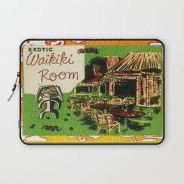 Tiki Art Exotic Waikiki Room Laptop Sleeve