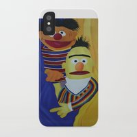 sesame street iPhone & iPod Cases featuring Sesame Street Bert and Ernie by ArtSchool