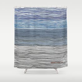Shoy's Beach Shower Curtain