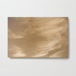 Coffee Swirl Sky  Metal Print