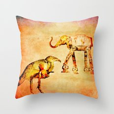 The empire of animals attacks Throw Pillow