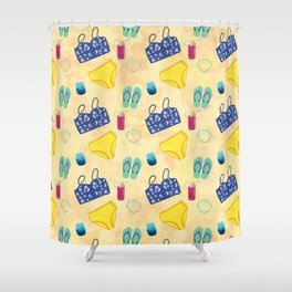 The Beach is Calling Shower Curtain