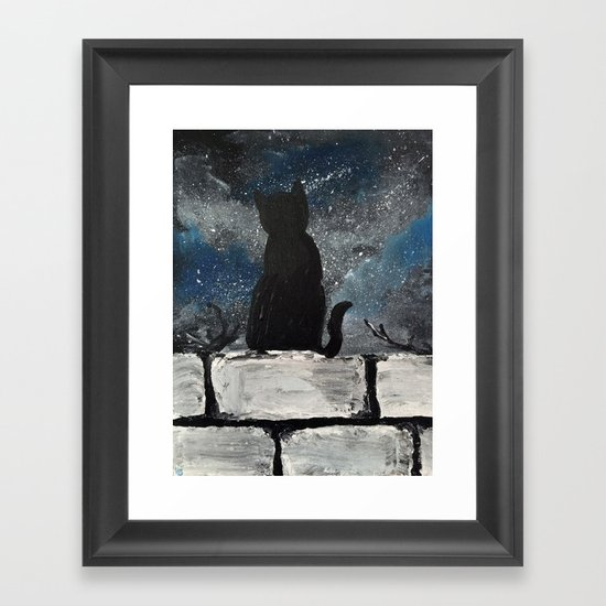 Twinkle Twinkle Little Cat Framed Art Print