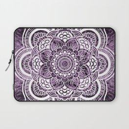 Mandala Grayish Purple Colorburst Laptop Sleeve