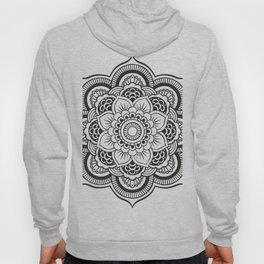 Mandala White & Black Hoody