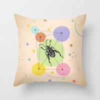 bug Throw Pillows featuring bug by mark ashkenazi