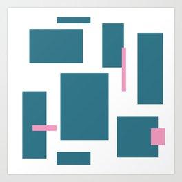 Geometric Ties Art Print