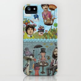 Lonely Hearts, Rubber Soul & Magical Yellow Submarine Tour iPhone Case