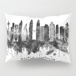 Kuala Lumpur Malaysia Skyline BW Pillow Sham
