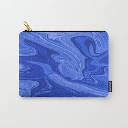 Abstract Blue Liquids Carry-All Pouch