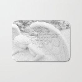 Guardian Angel Prayer | White Angel | Religious Art | Baptism | First Communion Bath Mat