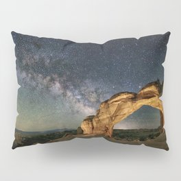 Broken Arch With The Rising Milky Way Pillow Sham