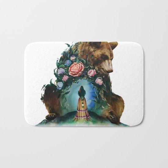 Flower & Bear Bath Mat