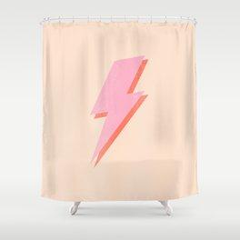Thunderbolt: The Peach Edition Shower Curtain