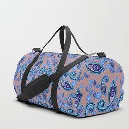 blue Oriental pattern Duffle Bag