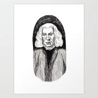 allyson johnson Art Prints featuring Samuel Johnson by Emma Ridgway