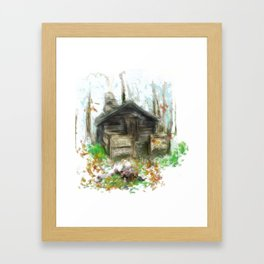 in the sanctum of that holy lair Framed Art Print