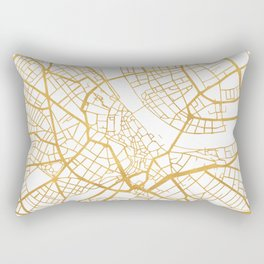 BASEL SWITZERLAND CITY STREET MAP ART Rectangular Pillow