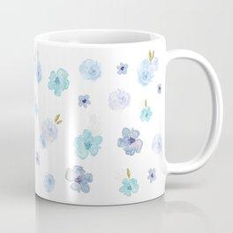 Watercolor Blooms - Blue Coffee Mug